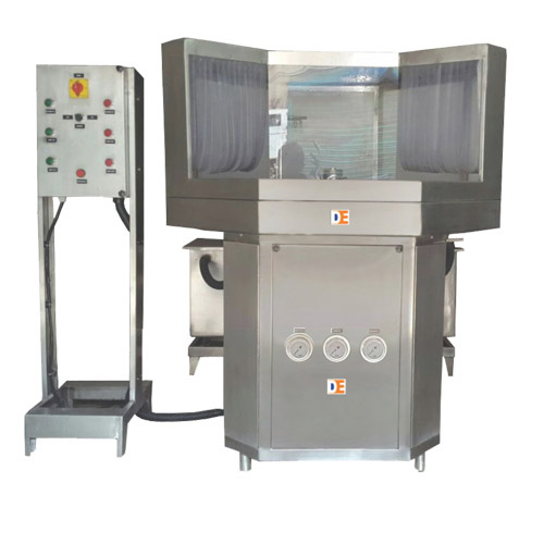 Semi-Automatic-Rotary-Bottle-Washing-Machine manufacturer , supplier and exporter in india.